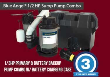Blue Angel® Submersible with Battery Backup Pump System large image 1