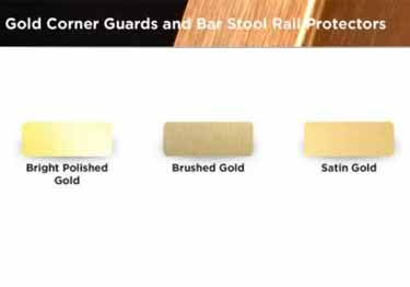 Gold Metal Corner Guards | Anodized Aluminum large image 6