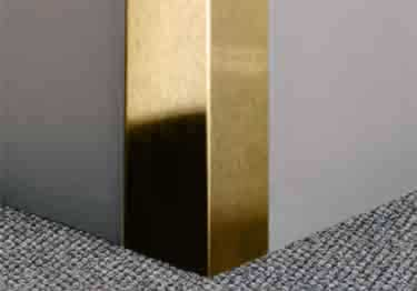 Gold Metal Corner Guards | Anodized Aluminum